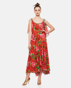Dress With Rose Print