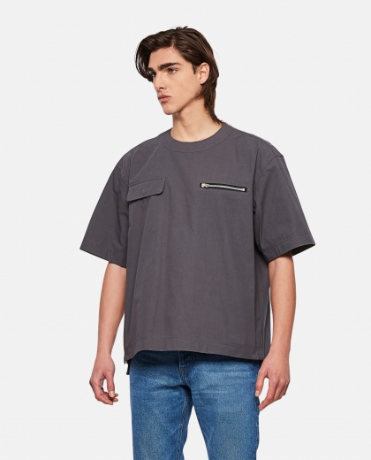 T-shirt with pockets detail Men Sacai 000301270044254 1