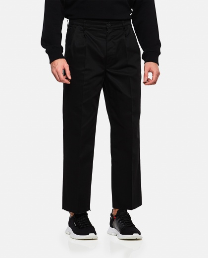 Cotton crop tailored chinos Men Givenchy 000226620033503 1
