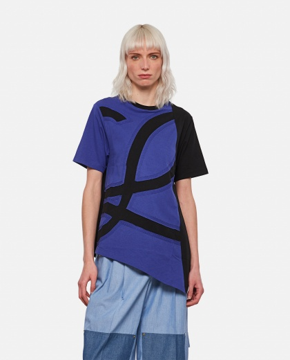 T-shirt oversize con logo L in cotone Donna Loewe 000307100045008 1