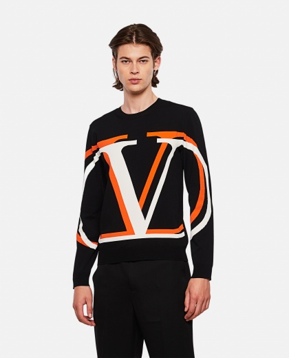 VLOGO Shadow knitted sweater