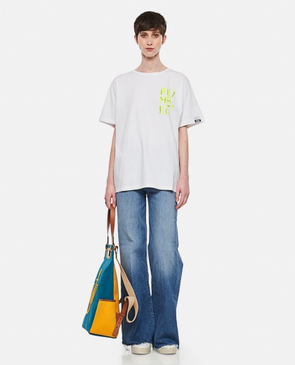 Aira T-shirt with fluo print on the front Women Golden Goose 000286520042275 2