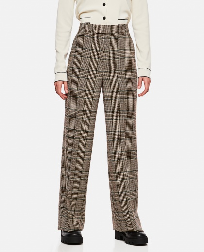 Prince of Wales pattern wool trousers Women Gucci 000274000040356 1