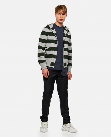 Sweatshirt with striped print Men Junya Watanabe 000270510039832 2