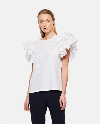T-shirt with Bow Sleeves Donna Alexander McQueen 000284970042014 1