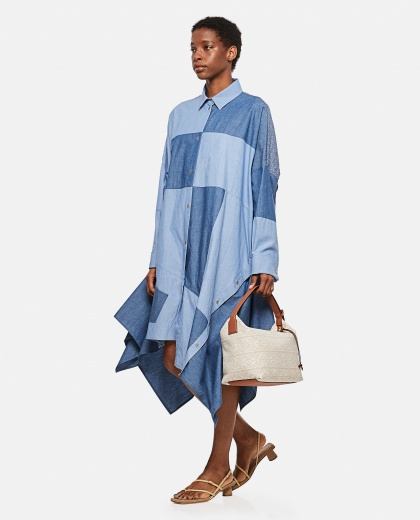Abito oversize patchwork in cotone Donna Loewe 000307050045003 2