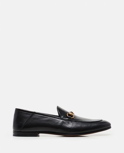 Leather moccasin with horsebit Men Gucci 000023000001265 1