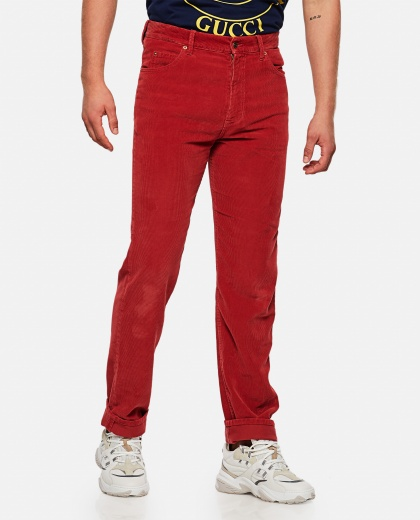 Corduroy velvet trousers Men Gucci 000269610039729 1