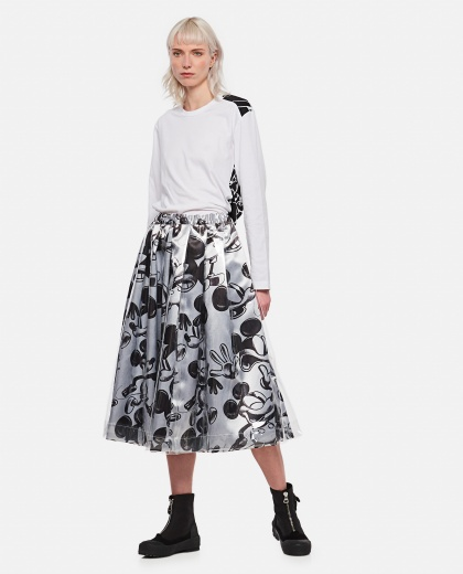 Mickey Mouse print skirt Women Comme des Garcons 000316320046344 2