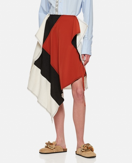 Gonna asimmetrica multicolor patchwork Donna J.W. Anderson 000302640044440 1
