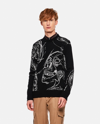 Sweater with print Men Alexander McQueen 000268810039633 1