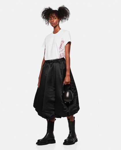 Balloon skirt in satin Women Comme des Garcons 000275630040608 2