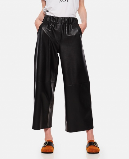 Wide-leg cropped trousers Women Loewe 000258470038191 1