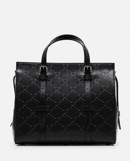 Borsa shopping con motivo GG in rilievo Uomo Gucci 000268150039547 1