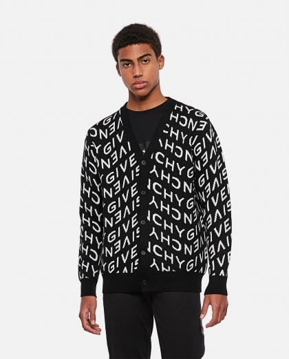 Jacquard wool cardigan Men Givenchy 000301970044344 1