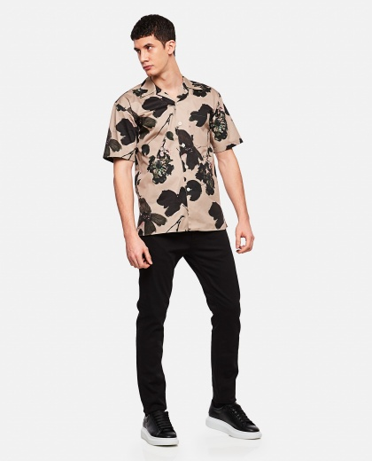 Shirt with floral print Men Alexander McQueen 000227310033582 2