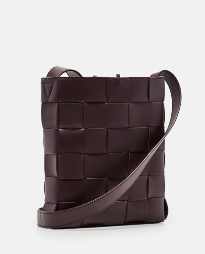 BORSA MESSENGER CASSETTE IN NAPPA INTRECCIATA Women Bottega Veneta 000285540042086 2