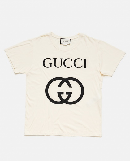 T-Shirt Oversize Con Stampa Gg Uomo Gucci 000132400020117 2