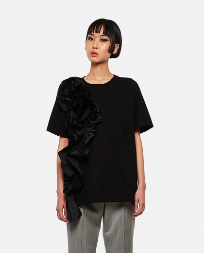 T-shirt with drapery