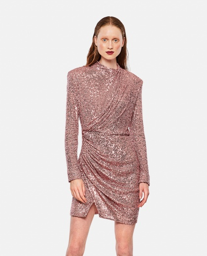 Draped dress with sequins