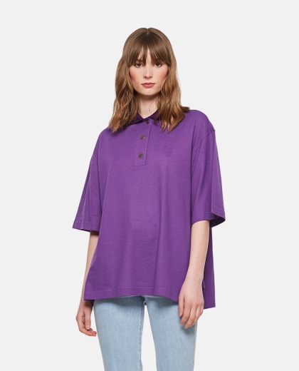 Cashmere and cotton Oversized Anagram polo shirt  Women Loewe 000306990044996 1