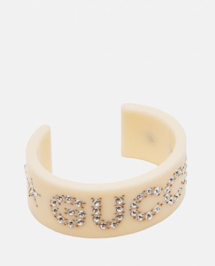 Gucci rigid bracelet with crystals Women Gucci 000259440038387 1
