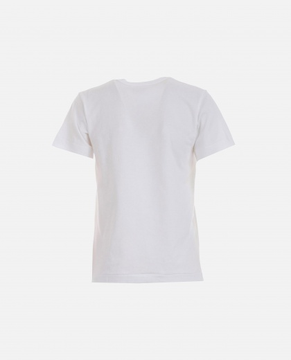 T-shirt with print. Women Comme des Garcons Play 000111410016896 2