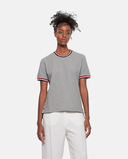 T-shirt with striped detail Women Thom Browne 000274840040463 1