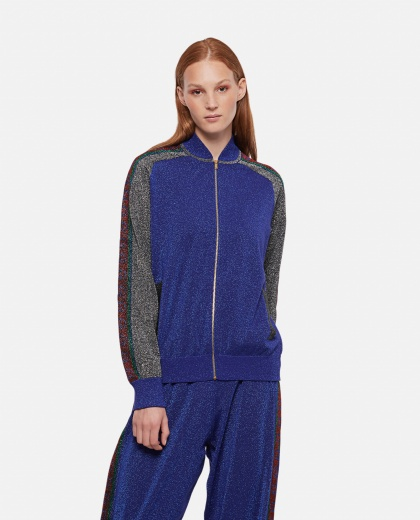 Wool bomber with lamé