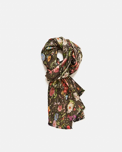 Silk Scarf With Floral Print Women Gucci 000189390028127 1