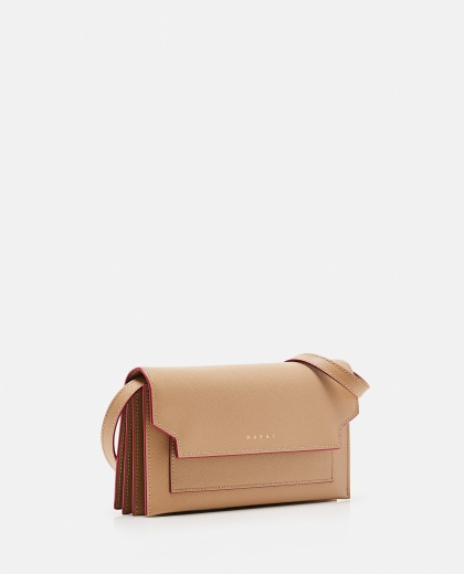 Leather wallet with shoulder strap Women Marni 000081700038002 2