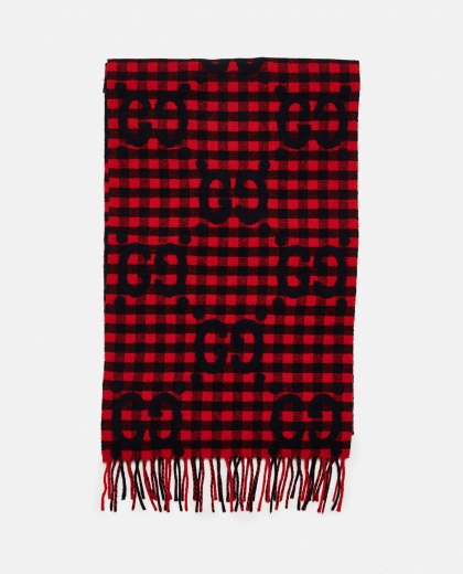 GG jacquard wool scarf Men Gucci 000293370043205 1