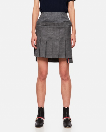 Pleated miniskirt  Women Thom Browne 000255100037674 1