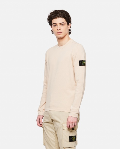 Sweater with logo patch Uomo Stone Island 000292730043111 1
