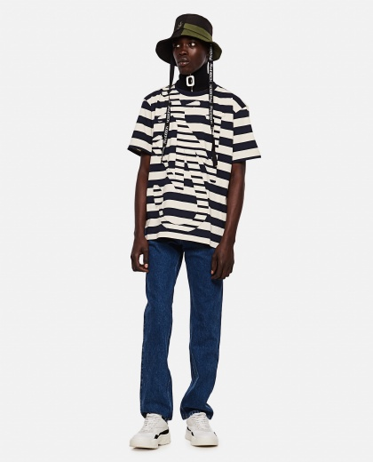 Striped Anchor T-Shirt Men J.W. Anderson 000293140043175 2