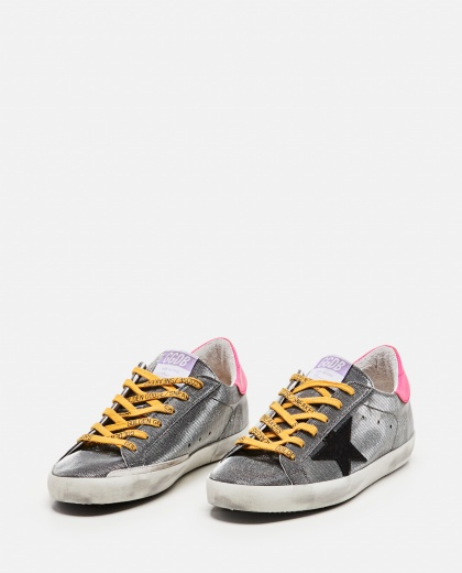Sneakers super-star in tessuto checkered lurex  Donna Golden Goose 000286910042315 2