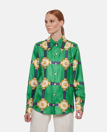 Silk  blouse with print