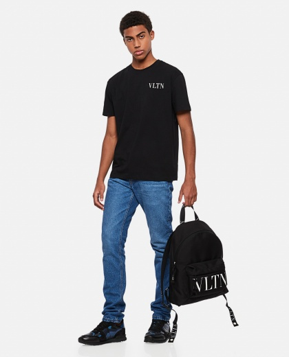 Valentino cotton T-shirt with VLTN logo Men Valentino 000295150043407 2