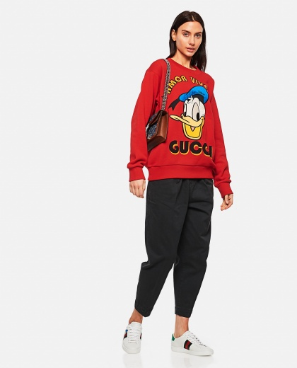 Disney x Gucci Donald Duck Sweatshirt Women Gucci 000287180042344 2