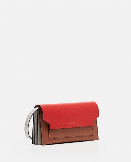 Trunk leather wallet with shoulder strap Women Marni 000289790042683 2