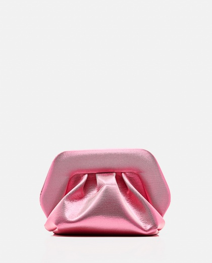 Pink  eco-leather clutch
