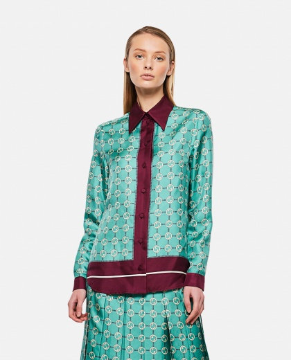 GG print silk shirt Women Gucci 000287000042324 1
