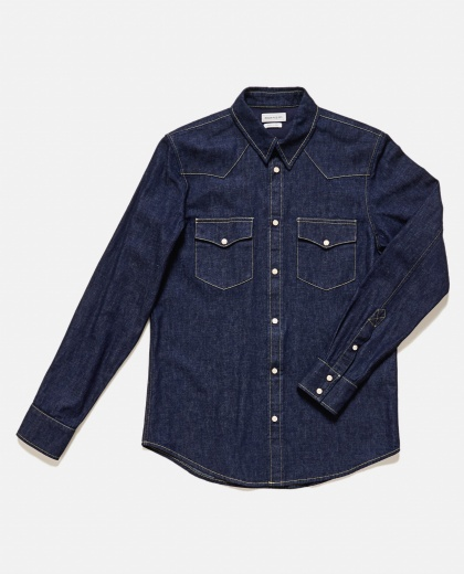 Cotton denim shirt  Men Alexander McQueen 000179640026748 2