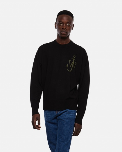 Anchor motif crewneck sweater Men J.W. Anderson 000293180043181 1