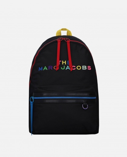 Backpack with rainbow logo