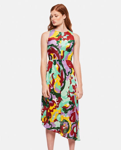 Pina Abstract Midi Dress