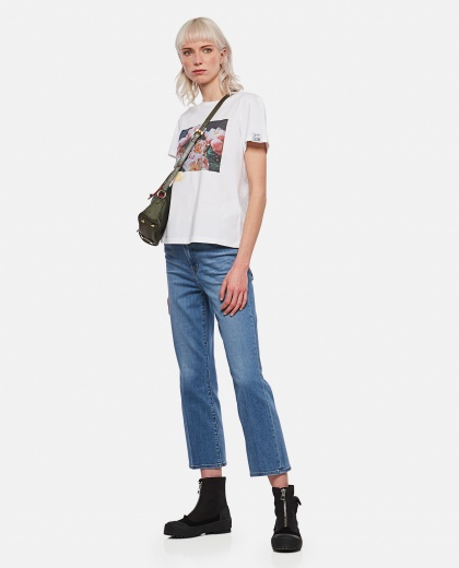 Ania Dream Maker Collection T-shirt with adhesive tape effect print Women Golden Goose 000286470042270 2