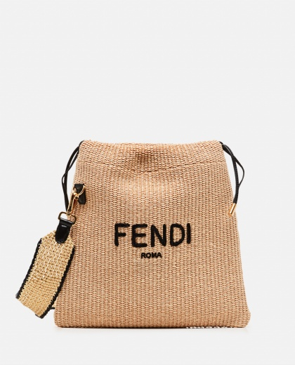 SMALL PACK embroidered straw bag Women Fendi 000310910045592 1