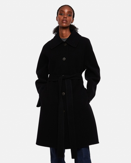 Oversized double-breasted coat in wool and cashmere Women Loewe 000258540038200 1
