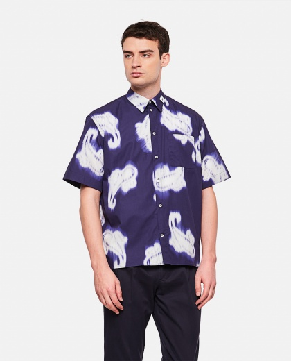 Shirt with paisley print Men MSGM 000229310033822 1